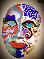 Art therapy mask making