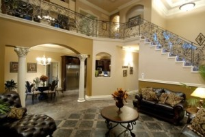 luxurious interior of a rehab home for addicted individuals to get help for addictions.