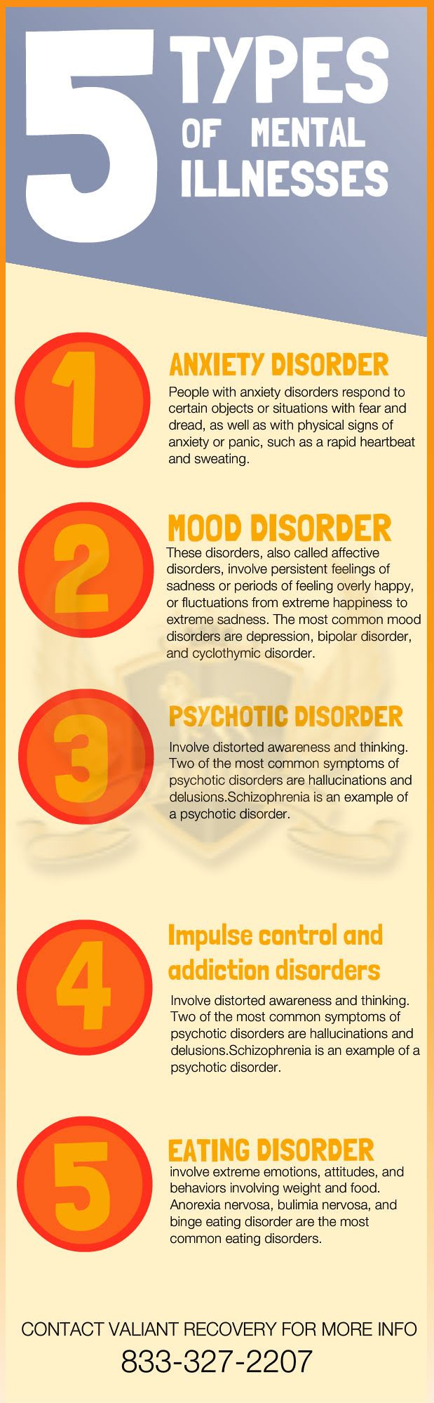 5 Types of Mental Illness? Infographic