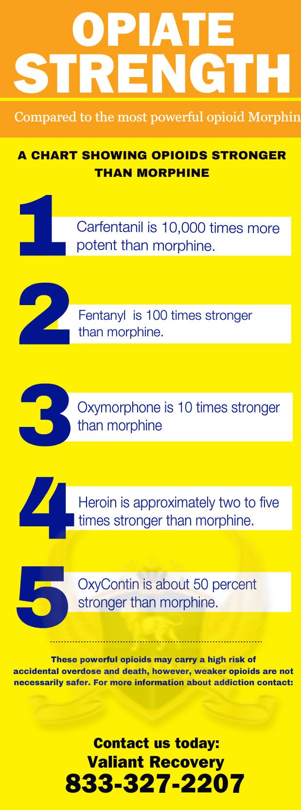 Opiate Strengths Infographic