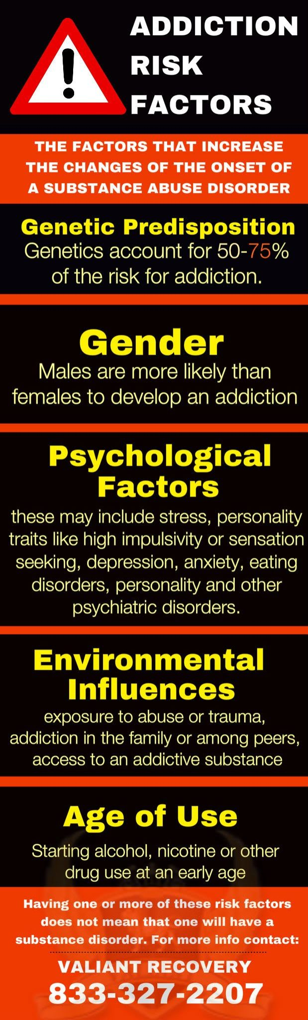 Addiction Risk Factors - infographic